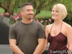 Michael and Kimberly go naughty in wild swingers orgy