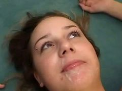 Amateur Girlfriend With Very Big Tits Takes Facials