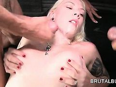 Dirty amateur blonde fucked doggy in the bus and jizz shot
