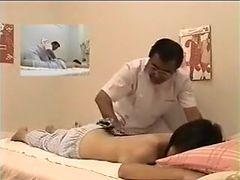 horny Japanese therapist