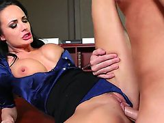 Horny bloke Daniel Hunter enjoys licking Alektra Blues delicious wet pussy before banging her long and hard