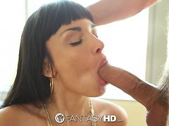 fantasyhd - anissa kate takes huge load of cum in her face