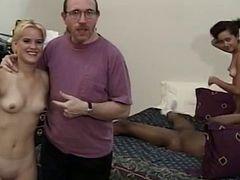 Petite Teens Share Black Cock On Vintage Film
