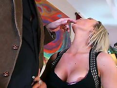 Blonde Abbey Brooks gives unthinkable sexual pleasure to hard dicked fuck buddy Mick Blue